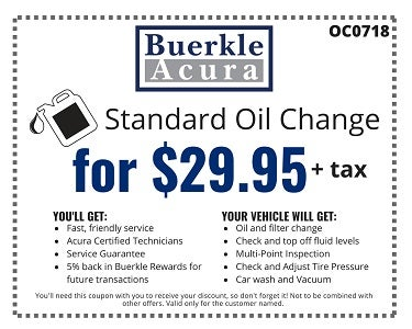 Service And Parts Coupons - Acura coupons oil change